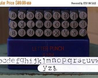 Spring Sale 6MM Typewriter Font Alphabet Letter Lowercase Stamp Set - Metal Stamp Set - Metal And Jewelry Stamping Tool - SGE-16L