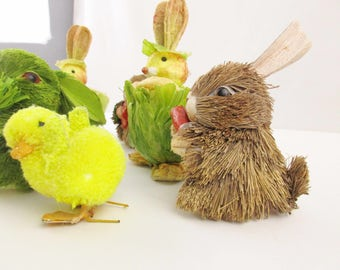 An Easter or Spring Menagerie - Chicks and Rabbits - 6 Rabbits and 5 Chicks - Decorate - Collect - Easter - Spring