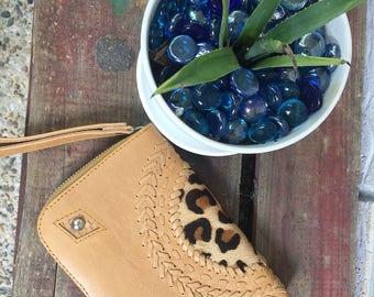 Leather / feline wallet