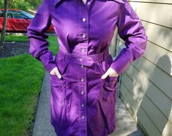 Mod Purple 60's Shirtdress