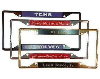 Four Hole Custom Personalized Metal Professionally Engraved Auto License Plate Frame Cover