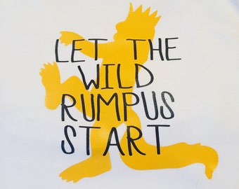 ADULT - Where the Wild Things Are Birthday Shirt - Let the wild rumpus start