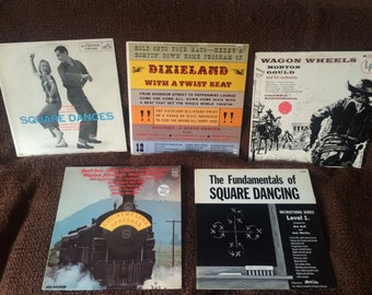 Square dancing, Dixieland, country vinyl records