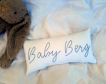 """Name Pillow - Baby Pillow Personalized - Keepsake Pillow - Custom Baby Boy Gift - Baby Shower Gifts - Gifts for Babies - 30X14 cm (12X6"""")"""