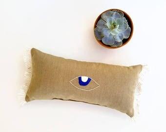 evil eye pillow porch decor sunbrella outdoor pillow bohemian decor boho pillow - Sunbrella Outdoor Pillows