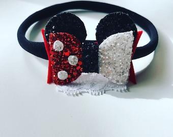 The Minnie Glitter Bow