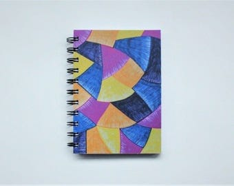 Blue Pink Yellow Notebook