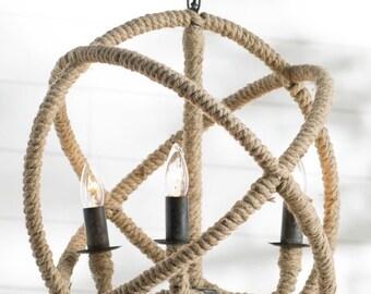 """14"""" Rope Orb chandelier"""