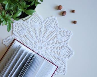 Lace Table Doily - Grandma Doily, Cotton Doily Crochet, Rustic Homewares, Crochet Doilies, Cotton Doily, White doily, Cotton Anniversary
