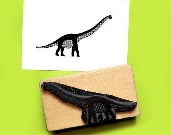 Brontosaurus Rubber Stamp