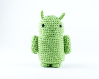 Amigurumi Android Robot Cyborg Crochet Geek MADE TO ORDER