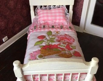 Vintage dollhouse twin bed