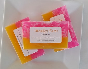 Monkey Farts Soap - Banana Soap - Fruity Soap - Children's Soap