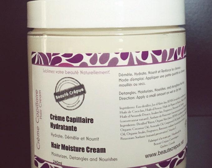 Moisturizing Hair Cream - with mango butter, sweet almond and jojoba oils - 250ml