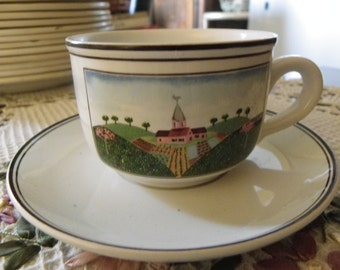 Villeroy and Bosch Lot Patterned Cup & Saucer Naïve Design