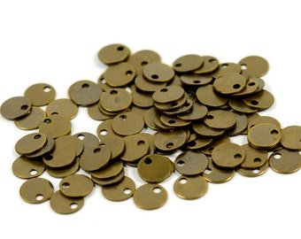 250 Pcs. Antique Brass 6 mm Round Disc Findings