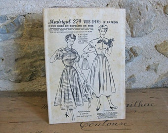 1950s summer dress sewing pattern Madrigal 279