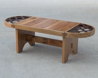 Coffee Table.  Reclaimed Oak and Steel.
