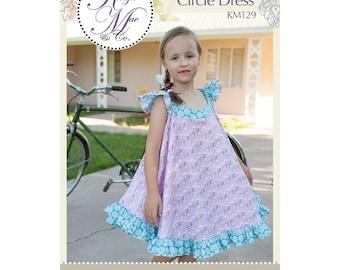 Twirly Whirly Circle Dress Sewing Pattern by Kenzie Mac & Co