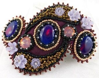 Barette, Hairclip, Bead Embroidery