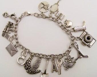 Pretty Little Liars Themed Charm Bracelet, TV Show themed, Love those Liars, Pretty Little Liars Bracelet, Liars Jewelry