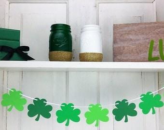 Shamrock Garland, St. Patrick's Day Garland, Patty's Day Decor, Garland