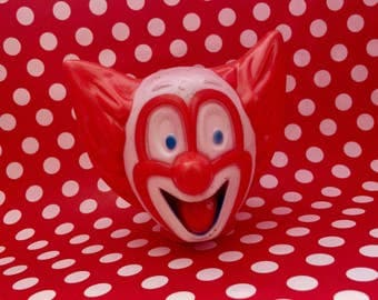 Vintage Plastic Bozo Clown Doll Head
