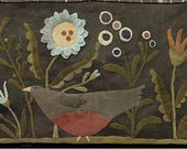 Primitive Wool Applique - Summer in My Garden by Maggie Bonanomi - Choose Pattern Only or Pattern w/Wool Kit