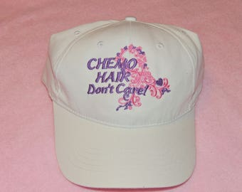 Chemo Hair Don't Care Hat, Chemo cap, Cancer hat
