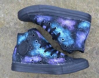 Galaxy Converse, Galaxy All Stars, Galaxy Hi Tops, Custom Converse, Nebula Converse, Painted Converse, Galaxy Sneakers, Galaxy Trainers