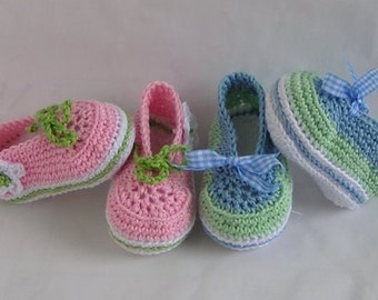 Ballerina lace-up shoes crochet pattern