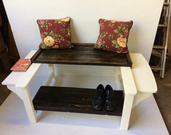 Amazing Heirloom Quality Shoeshine Bench