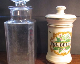 2 Larger Antique Apothecary Jars
