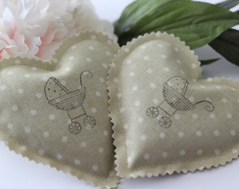 French Lavender Sachets Party Favors- Baby Shower Favors- Set of Two Lavender Sachets- Baby Shower Sachets