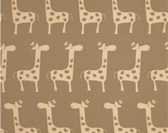 Handmade Window Curtain/Valance, 50W x 15L in Tan/Taupe/Off White Giraffe, Childrens Room Decor, Nursery Decor,Home Decor, Curtain Panels