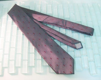 Christian Dior Silk Tie Gunmetal Gray Red ITALY