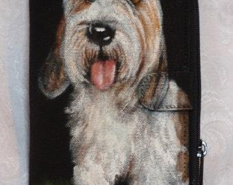 Custom Hand Painted Tango Clutch Wallet of Your Pet