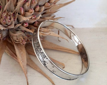 Etched Silver Bracelet