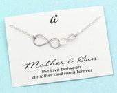 Mom Gift . Silver infinity Necklace . Mother and Son Necklace . Mommy Jewelry . Sterling Silver . New Mom & Son . Infinite Love . Meaningful
