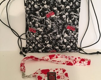 Walking dead zombie back pack and purse.