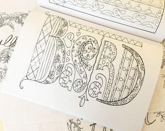 Pretty. Dirty. Words. Printable pages from my Adult Coloring Book.