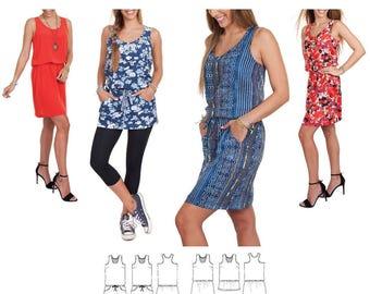 Jalie 3678 Rova Racer Back Blouson Tank Dress & Tunic Sewing Pattern for Women and Girls