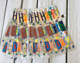 Cellophane Bags 10 Party Favor Bags Happy Birthday Bags Party Supply Gift Bag Candy Bag Goody Bag by picadillymarket