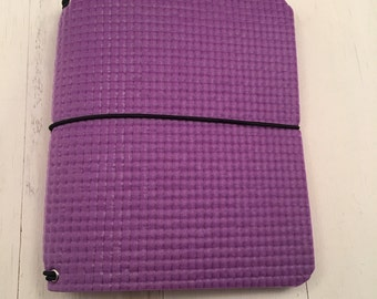 JournalJot (A6) - Spring Violet FitJot - Vegan Traveler's Notebook/Fauxdori