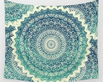 Bicolor COLD WINTER MANDALA Wall Tapestry