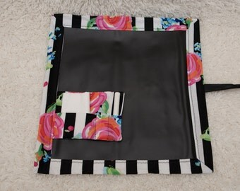 Travel Chalkboard, Chalkboard Mat, Roll Up Chalkboard, Child Chalkboard, Kid's Chalkboard, Lap Chalkboard, Chalkboard, Placemat, Quiet Book