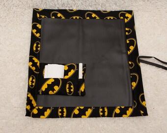 Batman, Travel Chalkboard, Chalkboard Mat, Roll Up Chalkboard, Child Chalkboard, Kid's Chalkboard, Lap Chalkboard, Chalkboard, Quiet Book