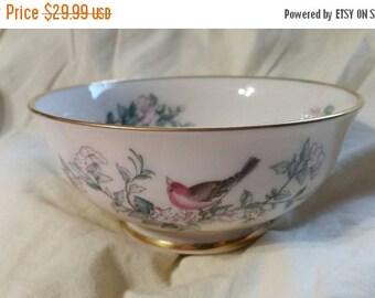 """On Sale Beautiful 5"""" All Purpose  Footed Cereal/Salad/Dessert Bowl in Serenade by Lenox"""