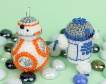 R2D2 Plush, BB8 Plush, Star Wars Plush, Crochet R2D2, Crochet BB8, Crochet Star Wars, R2D2 Amigurumi, BB8 Amigurumi, Star Wars Amigurumi
