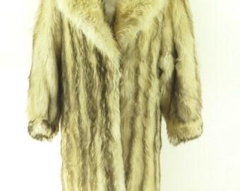 Vintage Canadian Fox Fur Overcoat Long Coat Womens 6 The Clothing Vault [H38A_7-2_Fur]